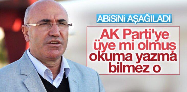 CHP'li Mahmut Tanal öz abisini aşağıladı