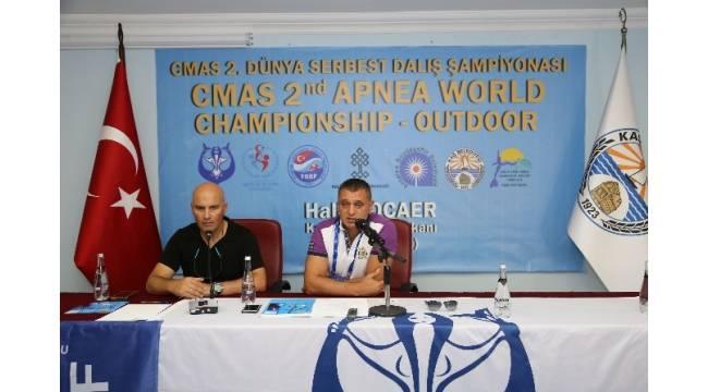 CMAS 2. Serbest Dalış Dünya Şampiyonası başladı