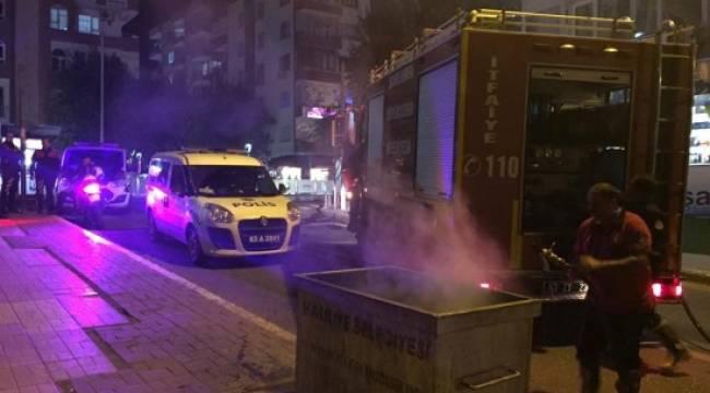 Çöp konteynerleri ateşe verildi