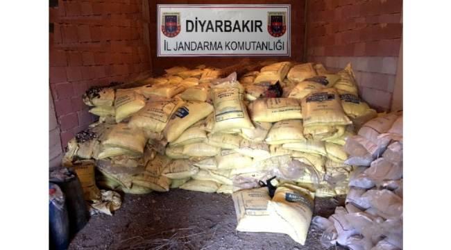 Diyarbakır'da 20 ton amonyum nitrat ele geçirildi