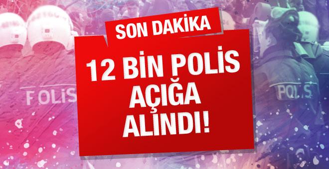 Emniyette 12 bin polis açığa alındı!