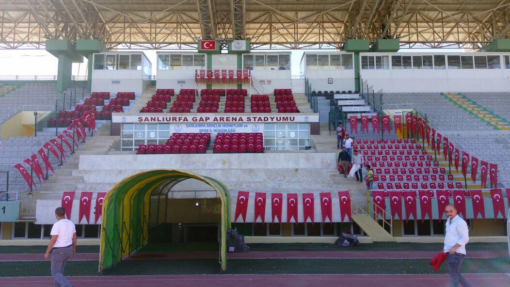 GAP Arena Bayraklar İle donatıldı