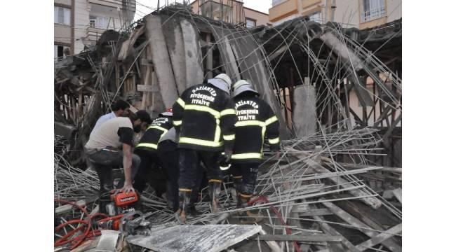 Gaziantep'te inşaatta göçük: 2 yaralı