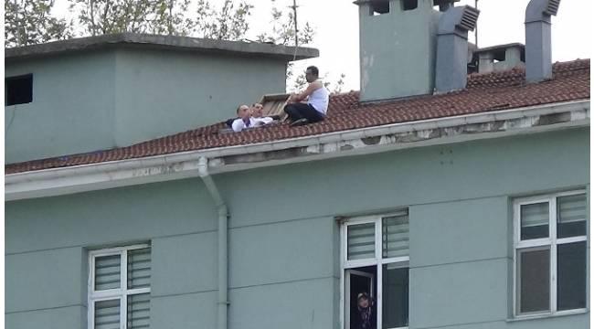 Hastane çatısında intihar pazarlığı