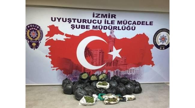 İzmir'de 70 kilo bonzai ele geçirildi