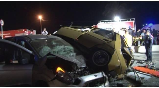 İzmir'de feci kaza: 1 ölü, 5 yaralı