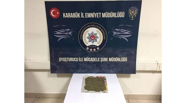 Karabük'te uyuşturucudan 1 gözaltı
