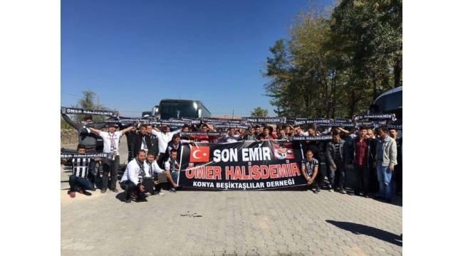 Konya Beşiktaşlılar derneğinden kahraman şehidin kabrine ziyaret