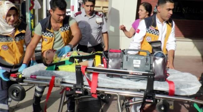 Motosikletin çarptığı çocuk ağır yaralandı