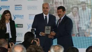 Numan Kurtulmuş'tan Mehmet Ekinci'ye plaket