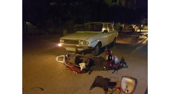 Otomobil elektrikli bisikletle çarpıştı: 2 yaralı