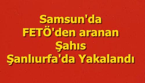 Samsun'da FETÖ'den aranan kişi Urfa'da yakalandı