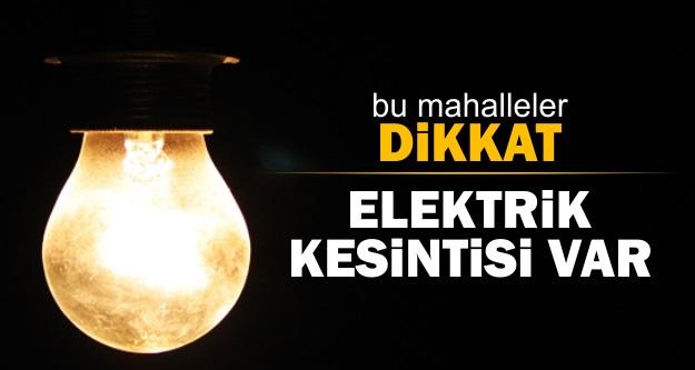 Şanlıurfa 7 saat elektriksiz kalacak