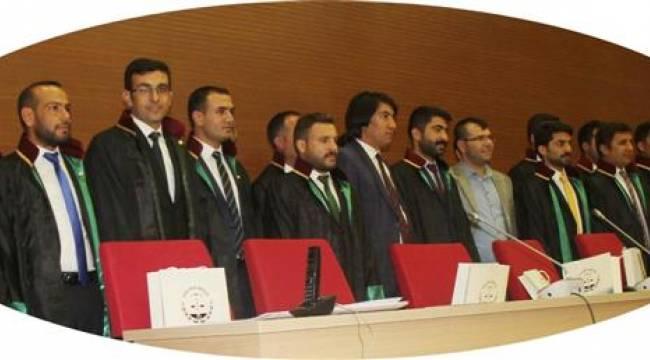 Şanlıurfa'da 21 stajer avukat cübbe giydi