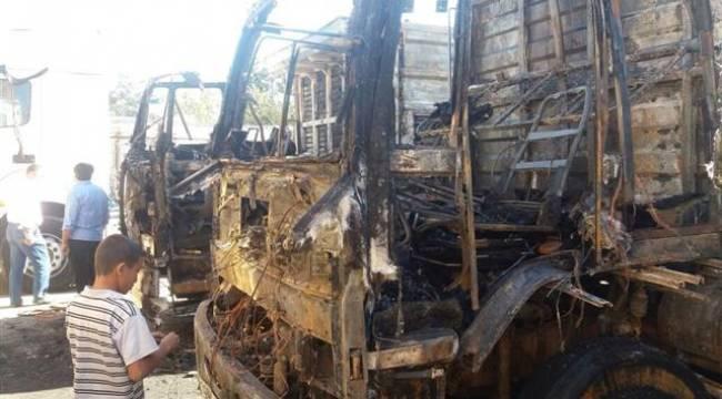 Şanlıurfa'da 3 kamyon ateşe verildi