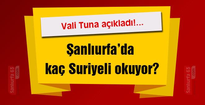 Şanlıurfa'da kaç Suriyeli okuyor?