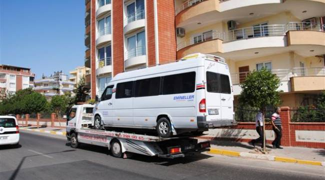Şanlıurfa'da Kaçak servis araçlarına men