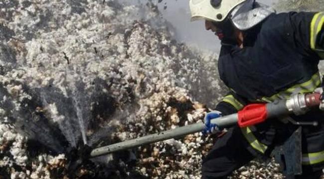Şanlıurfa'da pamuk yangını