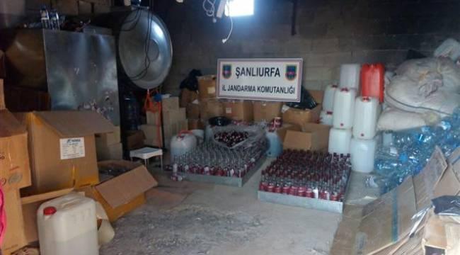 Şanlıurfa'da sahte içki fabrikasına operasyonu