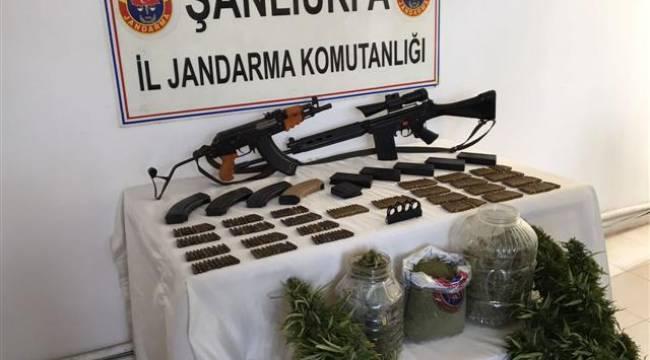 Şanlıurfa'da silah ve uyuşturucu operasyonu