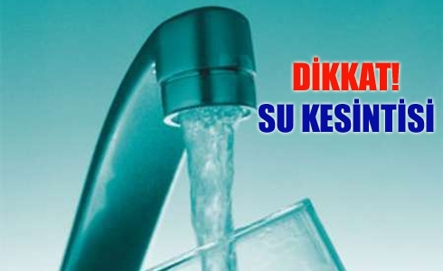 Şanlıurfa'da su kesintisi