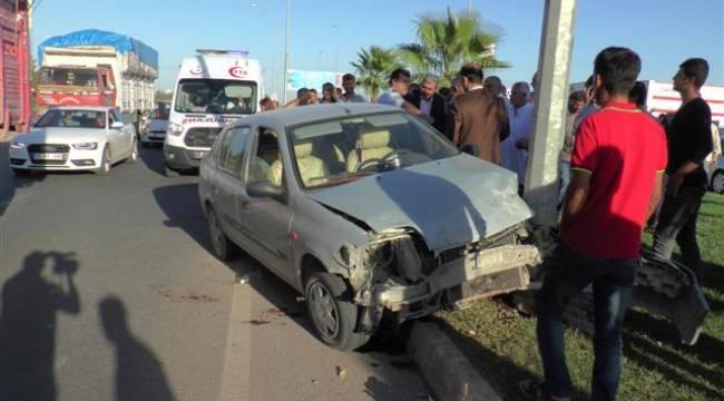Şanlıurfa'da trafik kazası ;3 yaralı