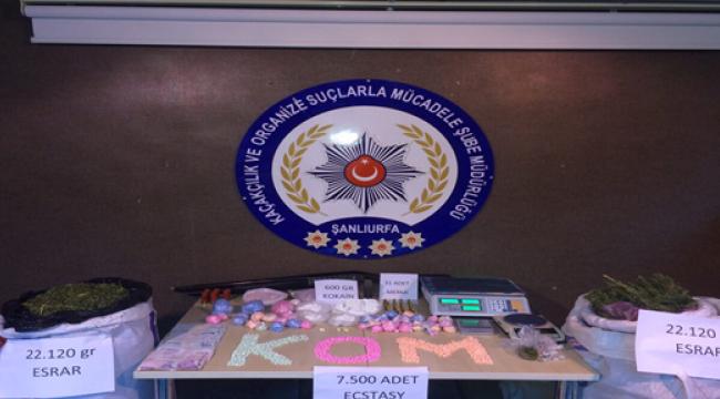 Şanlıurfa'da uyuşturucudan bin 50 kişi tutuklandı