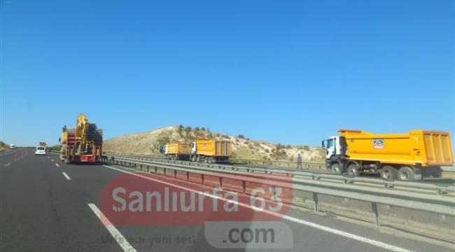 Şanlıurfa-Gaziantep otoyolunda onarım