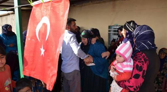 Şanlıurfalı şehidin evine Türk bayrağı asıldı