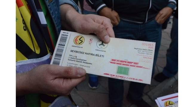 Seyircisiz maçın biletleri satışa çıktı