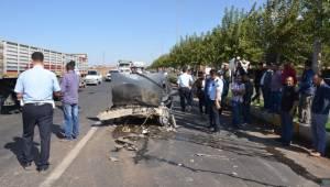 Siverek'te Büyük çaplı maddi hasarlı Kaza