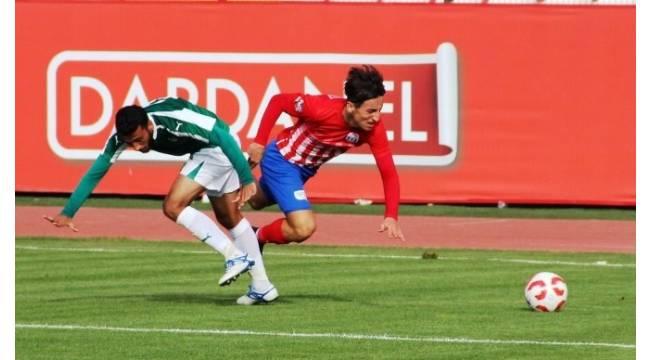Dardanelspor ,Yeşil Bursa ile berabere kaldı