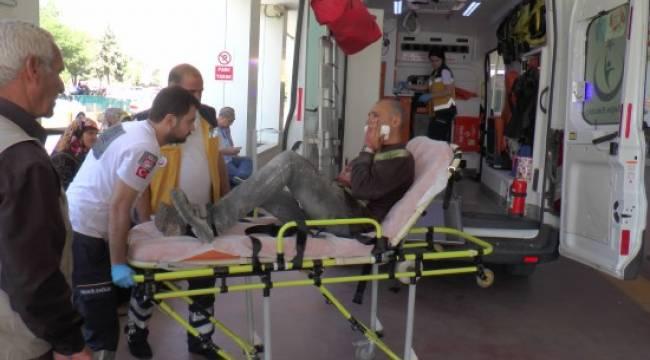Suriyeli işçi yüzünü kesti