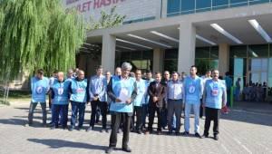 Türkiye'de ve Urfa'da doktora şiddete hayır