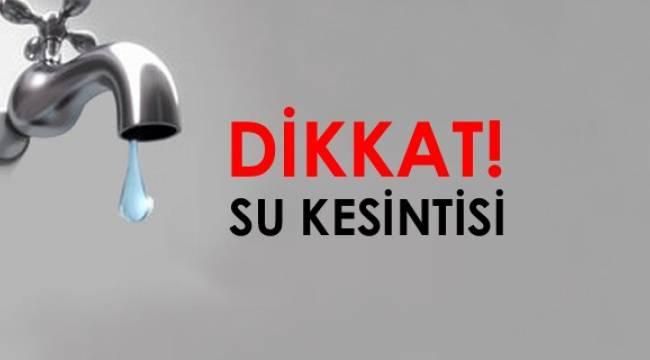 Urfa'da 2 gün zorunlu su kesintisi yaşanacak
