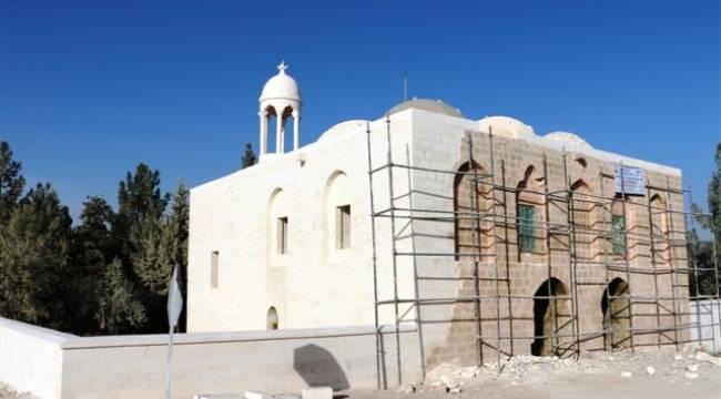 Urfa'daki Çarmelik Kervansarayı Camisine restorasyon