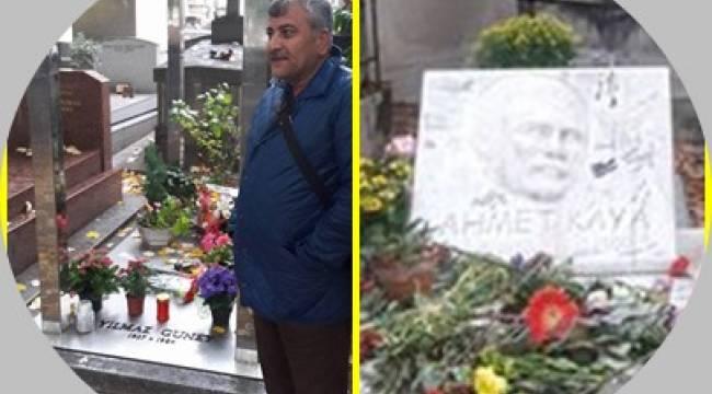 Yılmaz Güney ve Ahmet Kaya'nın mezarlarına ziyaret