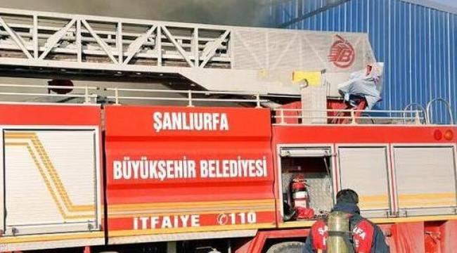 Akçakale'de yağ fabrikasında yangın
