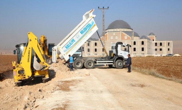 Darüsselam Cami yolu yapılıyor