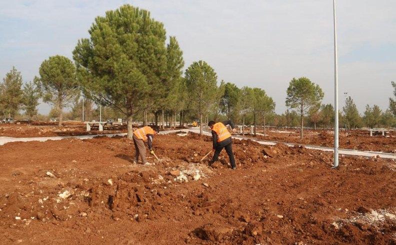 Hilvan'da yeşil alan oranını artırıyor