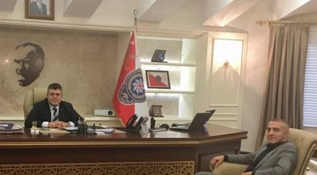 Karataş'dan Emniyet Müdürü Tipioğlu'na ziyaret