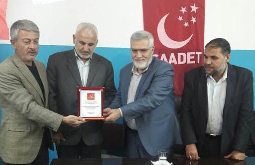 Saadet Partisi Karaköprü İlçe Başkanı değişti