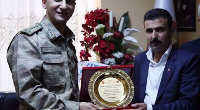 Şanlıurfa Jandarma Komutanında Korucular Derneğine ziyaret