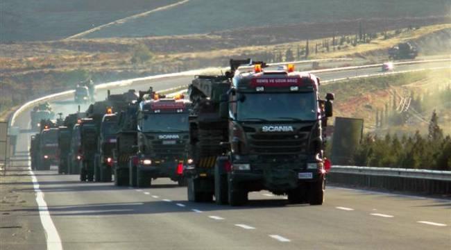 Şanlıurfa Sınırına askeri sevkiyat