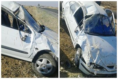 Takla atan otomobildeki 2 kişi yaralandı