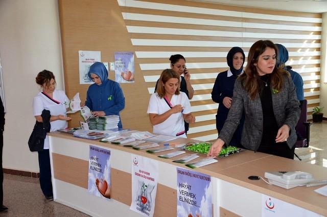 Tıp Fakültesinde Organ bağışı standı açıldı