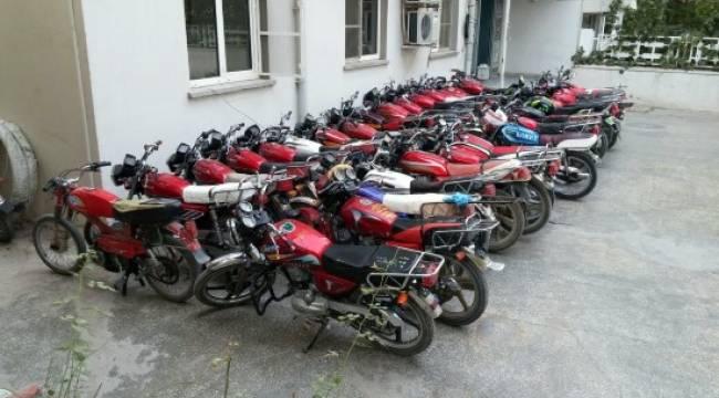 Urfa'da 66 çalıntı motosiklet yakalandı