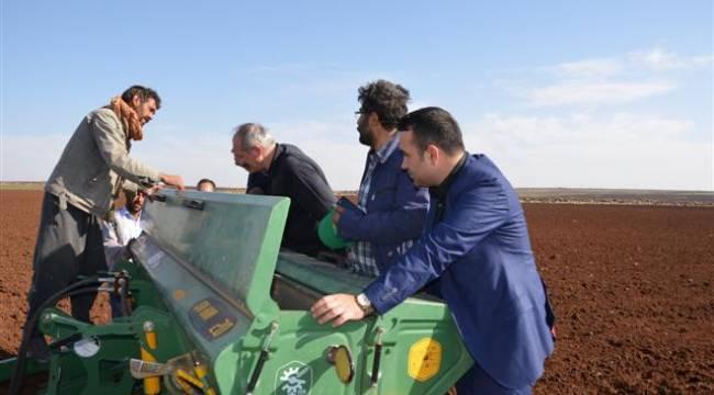 Urfa'da TİĞEM'den çiftçilere bilgilendirme