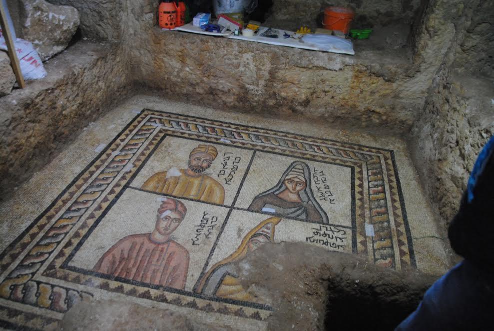 Urfa Kalesinde yeni taban mozaikler bulundu