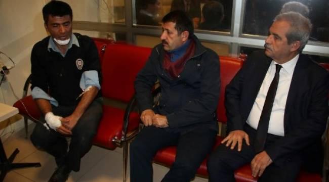 Demirkol'dan yaralı polislere ziyaret